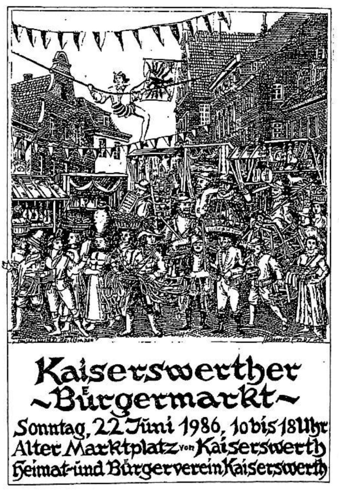 Plakat zum ersten Bürgermarkt von Hannes Esser