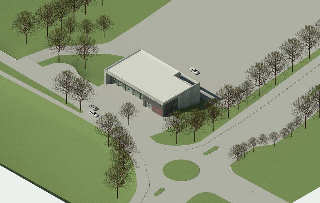 Wie eine neue Feuerwache für die freiwillige Feuerwehr Kaiserswerth aussehen könnte. Quelle: Freiwillige Feuerwehr Kaiserswerth/Dr. Peter Roberts.