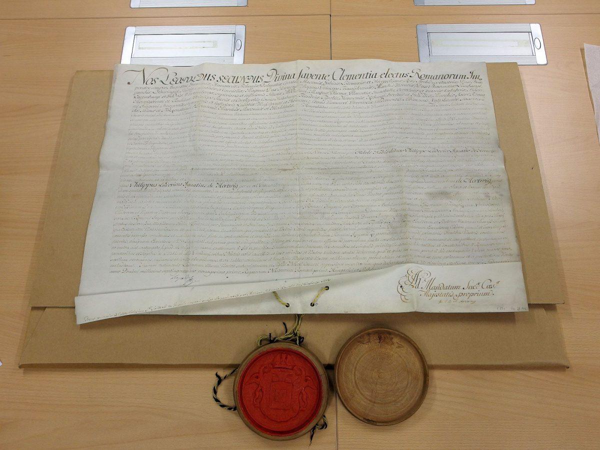 Kaiserliche Urkunde aus dem Jahr 1791